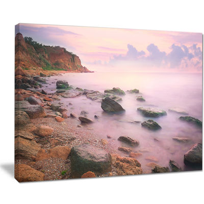 Designart Colorful Sunset Over The Sea Canvas Art