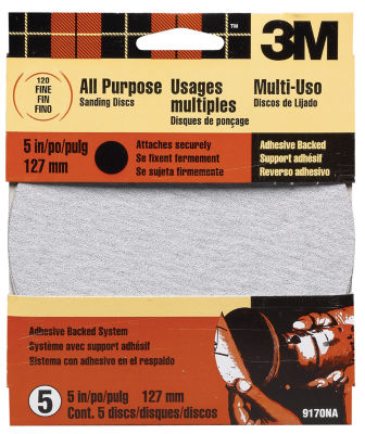 3M 9170Es 5IN Fine Adhesive Backed Discs