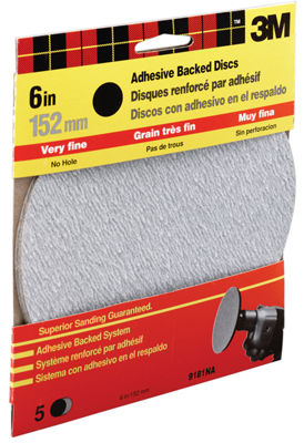 3M 9181Dc-Na 6IN Extra Fine Adhesive Backed Discs