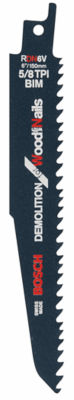 "Bosch Rdn6V 6"" All-Purpose Demoition ReciprocatingSaw Blade 5 Count"""