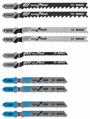 Bosch T5002 T-Shank Jigsaw Blades 10 Piece Set