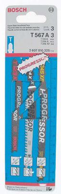 Bosch T567A3 Progressor¨ 3 Piece Assorted Jig SawBlades