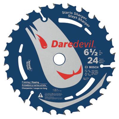 Daredevil Dcb624 6-1/2IN 24 Tpi Daredevil Blade For Portable Saws