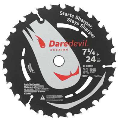 Daredevil Dcb724D 7-1/4IN 24 Tpi Daredevil Blade For Portable Saws