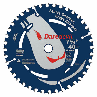 Daredevil Dcb740 7-1/4IN 40 Tooth Portable CircularSaw Blade