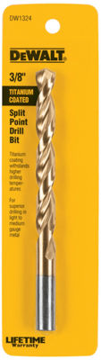 "Dewalt Dw1324 3/8"" Titanium Split Point Drill Bit"""