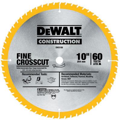 Dewalt Dw3106 10IN 60T Fine Finish Circular Saw Blade