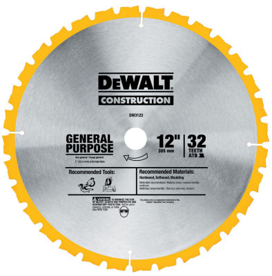 Dewalt DW3123 12IN General Purpose Circular Saw Blade