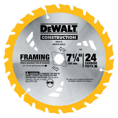 Dewalt Dw3178 7-1/4IN Framing Circular Saw Blade