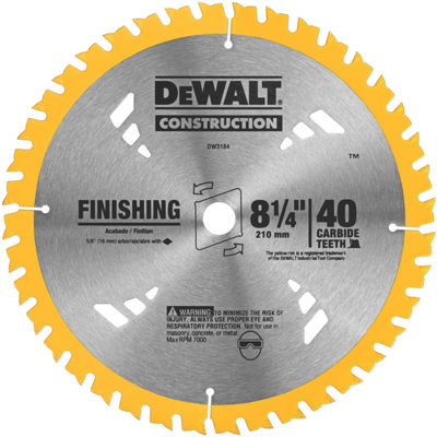 Dewalt Dw3184 8-1/4IN Finishing Circular Saw Blade