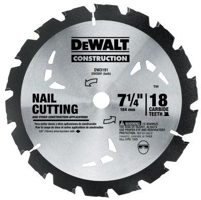Dewalt Dw3191 7-1/4IN Rock Carbide Circular Saw Blade