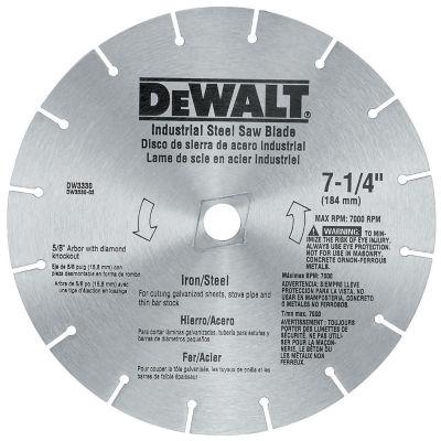 """Dewalt Dw3330 7-1/4"""" Iron & Steel Cutting CircularSaw Blade"""""""