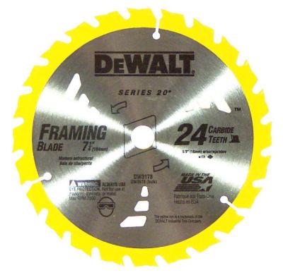 """Dewalt Dw3578B10 7-1/4"""" 24T Framing Circular Saw Blade"""""""