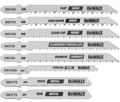 Dewalt Dw3791 8 Piece Assorted T-Shank Jig Saw Blade Set