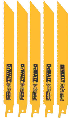 "Dewalt Dw4846 9"" 10/14 Tpi Multi Purpose Bi-MetalReciprocating Saw Blades"""