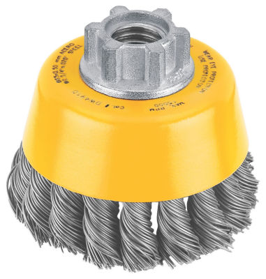 Dewalt Dw4910 3IN Knotted Steel Cup Wire Brush
