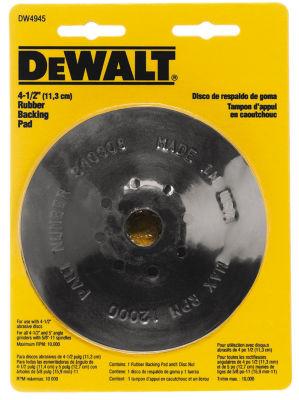 Dewalt Dw4945 4-1/2IN Rubber Backing Pad