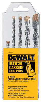 Dewalt DW5470 5 Piece Rock Carbide SDS Plus DrillBit Set
