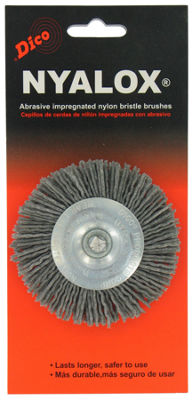 Dico 7200015 3IN Extra Coarse Nyalox Wire Wheel Brush