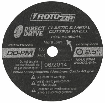 Rotozip Dd-Pm5 2-1/2IN Direct Drive Cut-Off Wheel5 Count