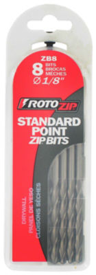 """Rotozip Zb8 1/8"""" Standard Point Zip¨ Bits 8 Count"""""""