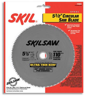 Skil 74501 5-1/2IN 110T Ultra Thin Kerf CircularSaw Blade