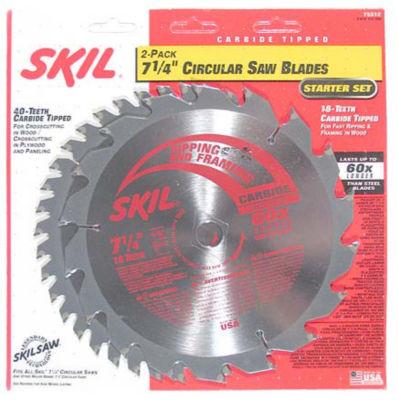 Skil 75312 2-Pack 7-1/4IN Circular Saw Blades