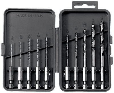 Vermont American 13137 10 Piece Quick Change Hex Shank Drill Bit Set