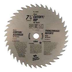 "Vermont American 26492 7-1/4"" Cut Off Circular SawBlade"""