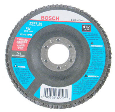 Bosch Fd2945060 Finishing & Blending Flap Disc