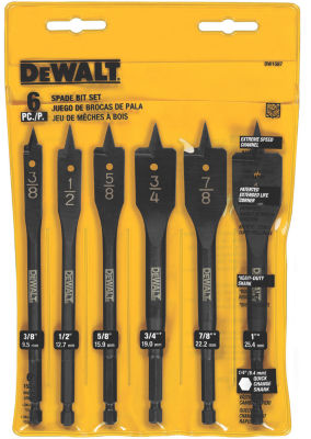 Dewalt Dw1587 Wood Boring Bit Set 6 Count