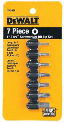 Dewalt Dw2067 7 Piece 1IN Torx Screwdriver Bit TipSet