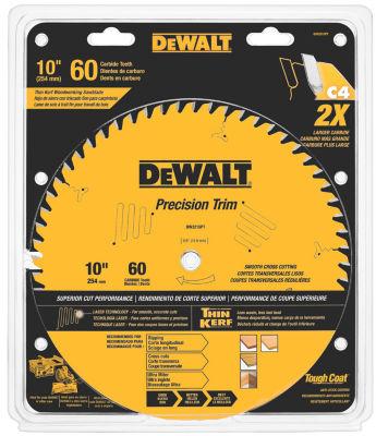 """Dewalt Dw3215Pt 10"""" 60 Teeth Trim Saw Blade"""""""