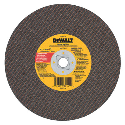 Dewalt Dw3531 8IN Metal Abrasive Saw Blade