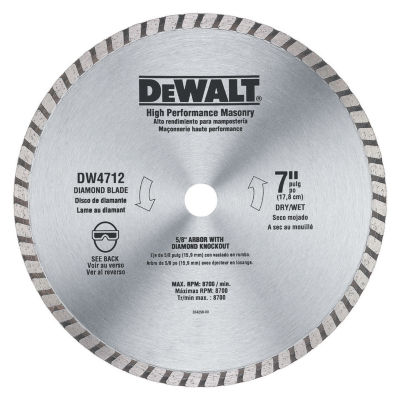 Dewalt Dw4712B 7IN Abrasive Blade