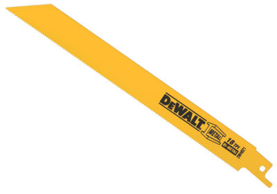 "Dewalt Dw4821 8"" 18 Tpi Straight Back Bi-Metal Reciprocating Saw Blade"""