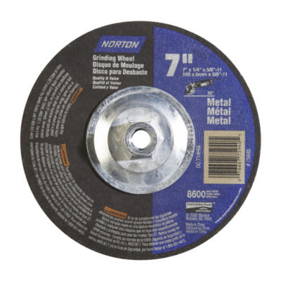 "Norton 75940 7"" X 1/4"" X 5/8""30¡ Metal Grinding Wheel"""