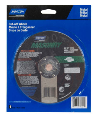 "Norton 89005 7"" Metal Circular Saw Reinforced Cut-Off Blade"""