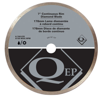 Qep 6-7001Q 7IN Continuous Rim Diamond Tile Saw Blade