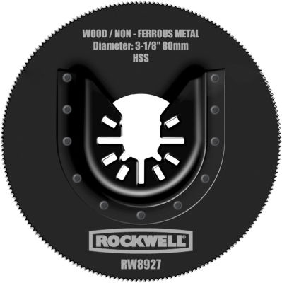 """Rockwell Rw8927 3-1/8"""" Sonicrafter Hss Saw Blade With Universal Fit"""""""