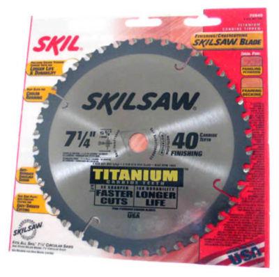 Skil 75940 Skilsaw¨ Titanium Finishing & Crosscutting Saw Blade