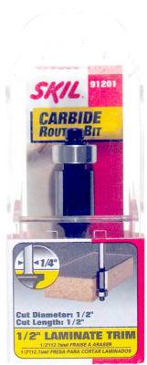 Skil 91201 1/2IN Laminate Trim Carbide Router Bit