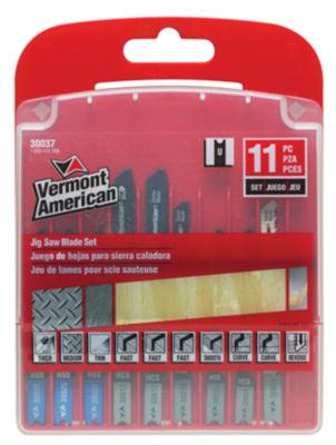 Vermont American 30037 11 Piece Assorted U-Shank Jig Saw Blade Set