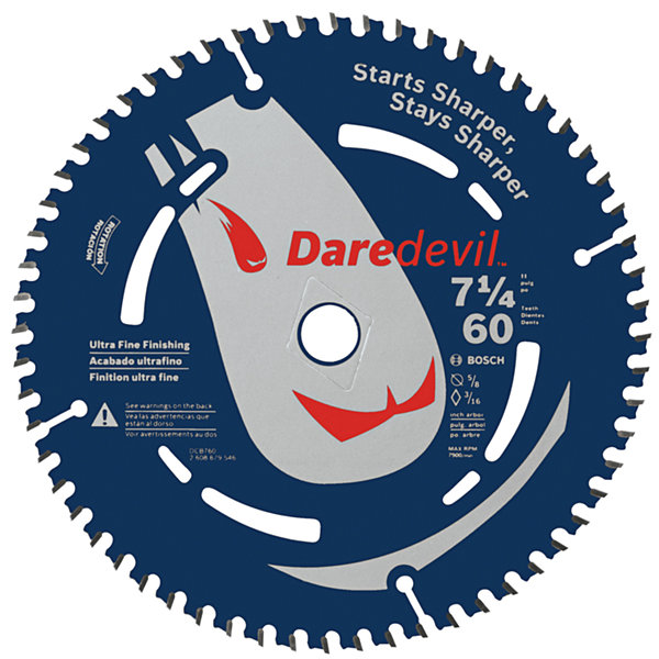 Daredevil Dcb760 7-1/4IN 60 Tpi Daredevil Blade For Portable Saws