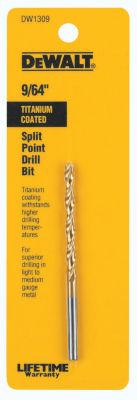 """Dewalt Dw1309 9/64"""" Titanium Split Point Drill Bit"""""""