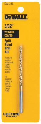 Dewalt Dw1310 5/32IN Titanium Split Point Drill Bit