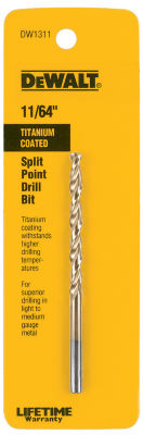 "Dewalt Dw1311 11/64"" Titanium Split Point Drill Bit"""