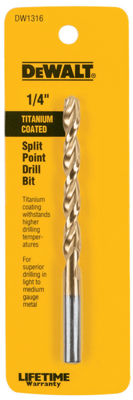 Dewalt Dw1316 1/4IN Titanium Split Point Drill Bit