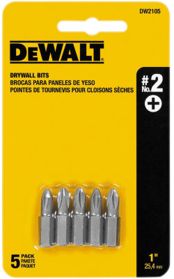 Dewalt Dw2105 1IN #2 Phillips Drywall Power Bits 5Count