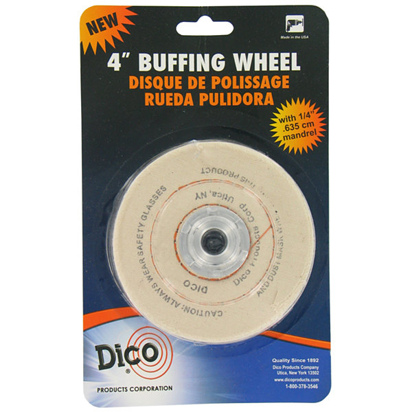 "Dico 7000128 4"" X 1/2"" Cotton Buffing Wheel"""